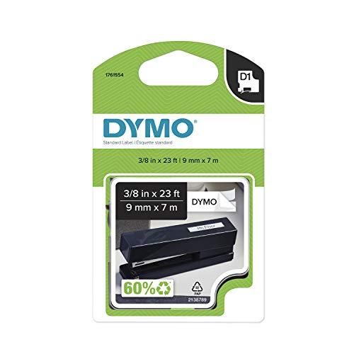 DYMO Etiquetas D1, rolo de 9,5 mm x 7,8 m, impressão preta em branco, autoadesivo, para rotuladores LabelManager, autêntico DYMO