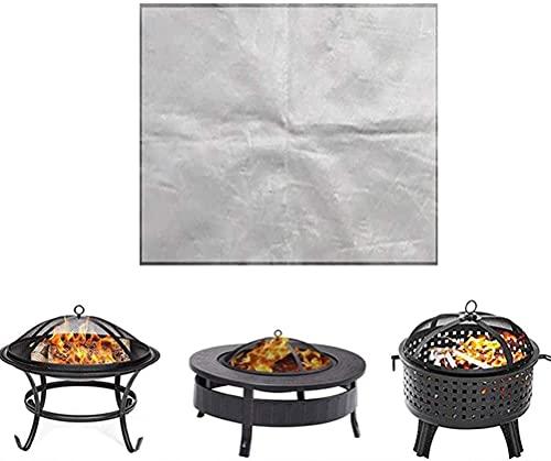 BBQ-Schutzmatte BBQ-Matte Spritzblech BBQ-Grillmatte Rutschfeste hitzebeständige tragbare tragbare bequeme feuerfeste nicht brennbare Folie Ölbeständige Gasgrill-Bodenmatte Wasserdichte Bodenschutzde