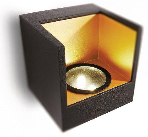 Philips Ledino LED-Wandleuchte Mathea 2-flammig 2 W, schwarz 690863016