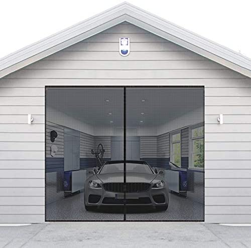 AURELIO TECH Magnetic Garage Door Screen for 1 Car 9x7 ft Single Garage Door Mesh Screen Curtain product image