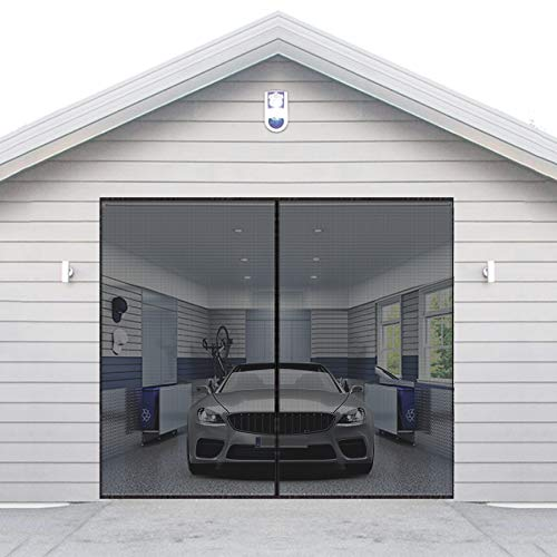 AURELIO TECH Magnetic Garage Door Screen for 1 Car 9x7 ft Single Garage Door  Mesh Screen Curtain Cover Kit with Hook and Loop, Keep Bugs Out- Buy Online  in Pakistan at Desertcart.