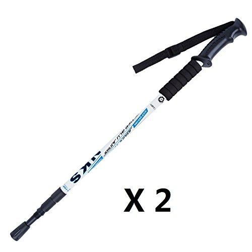 Wsobue Collapsible Walking Stick for Men and Women Walking Hiking Trekking Pole Ultralight Aluminum Ski Pole with EVA Grip,1 Pack 1 Pack Black