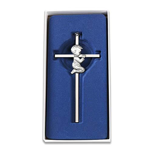 Silver Boy Wall Cross