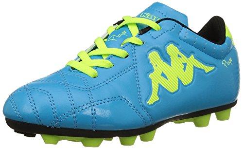 Kappa 4 Soccer Player Fg, Scarpe da Calcio Unisex-Bambini, Bleu Lt Blue Yellow, 38 EU