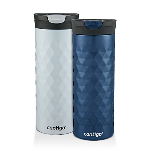 *Contigo Kenton Snapseal 20oz Monaco/Polar White Insulated Travel Mug Set(2-Pack)*