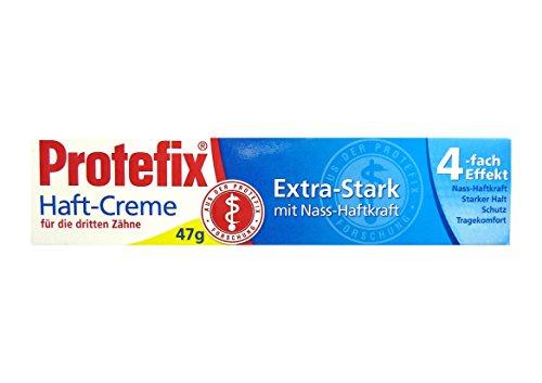 PROTEFIX Haft-Creme für die dritten Zähne 47g Extra Stark mit Nass-Haftkraft
