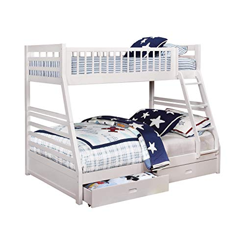 Coaster Ashton Twin Over Full Bunk Bed in White