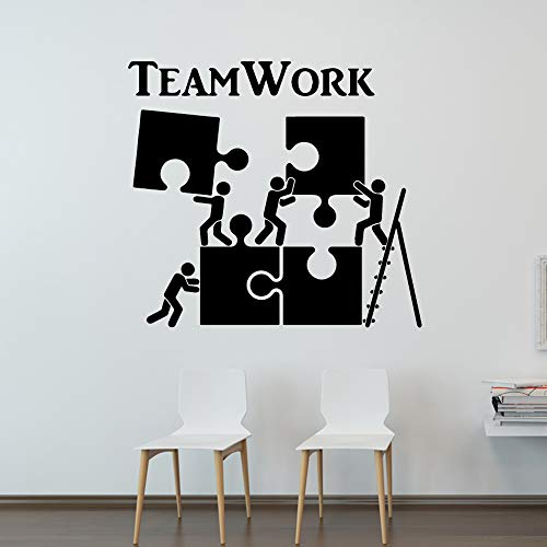 sanzangtang Büro Wandaufkleber abnehmbare wasserdichte Dekoration von Teamwork modernes Dekorationsmotiv,