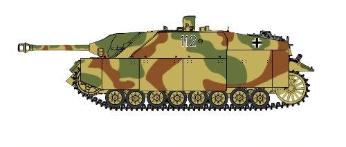WW.II German Jagdpanzer IV A-0 w/Panzergrenadiers Panzer Lehr Division (Plastic model)