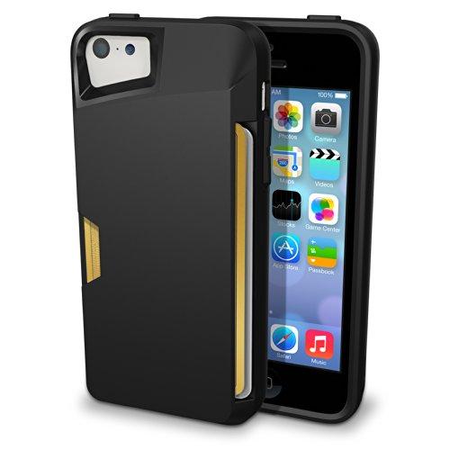 Smartish iPhone 5c Wallet Case - [Ultra Slim Protective iPhone Wallet] - Slite Card Case for iPhone 5c by (CM4) - Black Onyx'