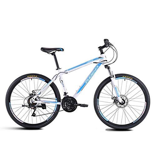 JLFSDB Mountain Bike,26 Inch Men/Women Hard-Tail Bicycles,Carbon Steel Frame,Dual Disc Brake and Front Fork,21 Speed (Color : Blue)