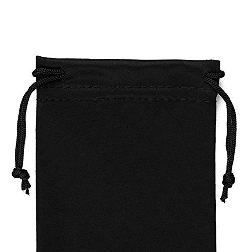 Microfibre Drawstring Glasses Bag/Gadget Pouch (4 Pack) - Black