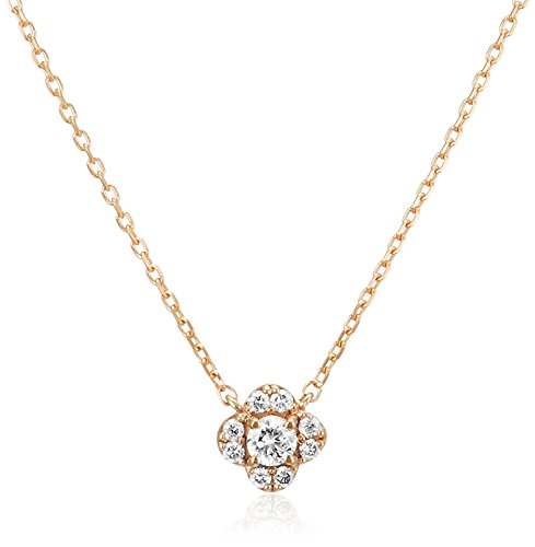 [VAヴァンドーム青山] VA VENDOME AOYAMA K18PG ダイヤモンド 0.08ct フラワー ネックレス GGAN009140DI