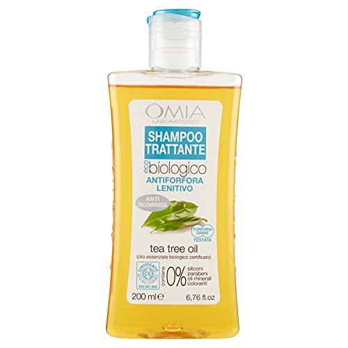 Omia Therapy Shampoo Trattante Eco Bio con Tea Tree Oil, Shampoo Antiforfora Lenitivo, 200 ml