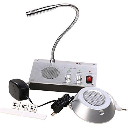 UHPPOTE Dual-Vía Anti-Interferencia Sonido-Libre Oficina Banco Tienda Estación Ventana Micrófono Audio Registro Salida Intercomunicador Altavoz Sistema Para Mostrador Contador