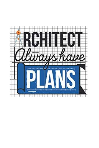 Plano del arquitecto: Din A5 Arquitecto Planificación Cuaderno de dibujo Tablero de regalo con 120 páginas