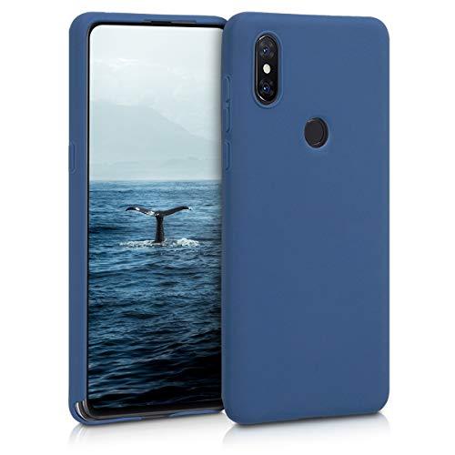 kwmobile Funda Compatible con Xiaomi Mi Mix 3 - Carcasa de TPU Silicona - Protector Trasero en Azul Marino