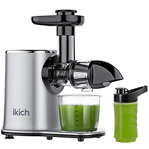 IKICH Juicer Machines 2 Speed Slow Masticating Juicer Easy to Clean