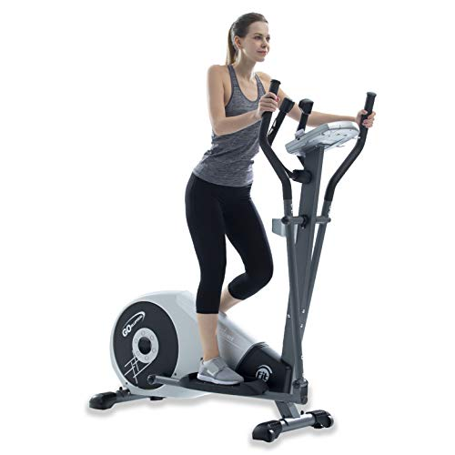 "GOELLIPTICAL V-200T Standard Stride 17"" Programmable Elliptical Exercise Cross Trainer Machine for Cardio Fitness Strength Conditioning Workout at Home or Gym"