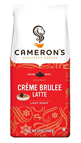 Cameron's Coffee Holiday Roasted Ground Coffee Bag, Flavored, Crème Brulee Latte, 12 Ounce