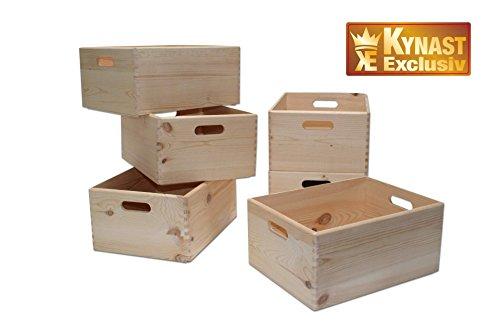 Holzkiste/Allzweckkiste/Stapelbox natur 40x30x19cm