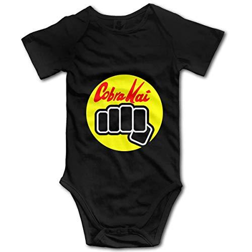 WlQshop Mono para Bebé,Mameluco Bebé Bodysuit Infant Cobra Kai Karate Dojo Short Sleeve Onesie Jumpsuit Romper for Baby Boys Girls