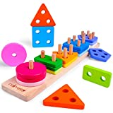 Wooden Educational Toys Best Birthday Gifts for 2 3 4+ Years Boy Girl...