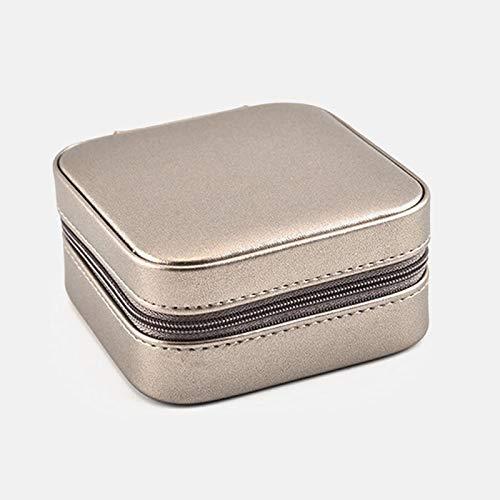 aolongwl Caja Joyero Caja de Viaje de exhibición cosmética portátil de Storage Organizer 2