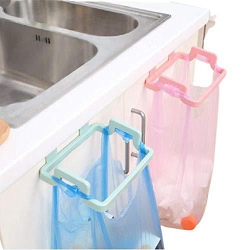 Allegorly Hängender Müllsackhalter,Müllsackständer aus Plastik,Müllsäcke Lagerregal,Abfallsackhalter,Trash Tasche Halter Organizer,Müllsackhalter für Schrank Küche Cabinets Handtuchhalter