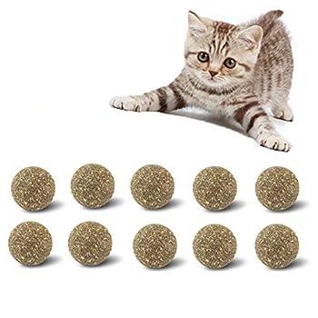 ZXING 32Mm Cataire Boule Jouets pour Chats Naturel Menthe Jouet Pet Chaton Chat Menthe Boule De Sucre Traite en Bonne Santé Nutrition Bonbons-1/2/5/10 PIÈCES