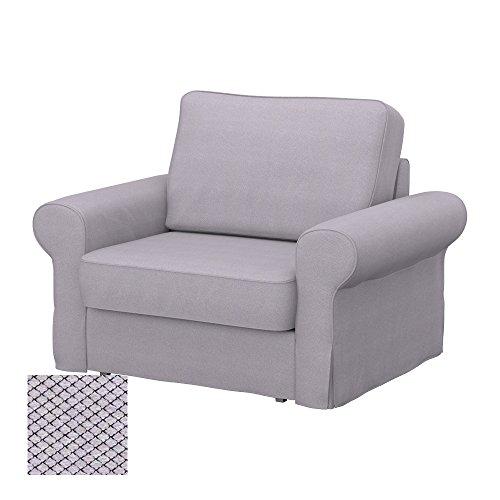 Soferia - IKEA BACKABRO Funda para sillón, Nordic Light Grey
