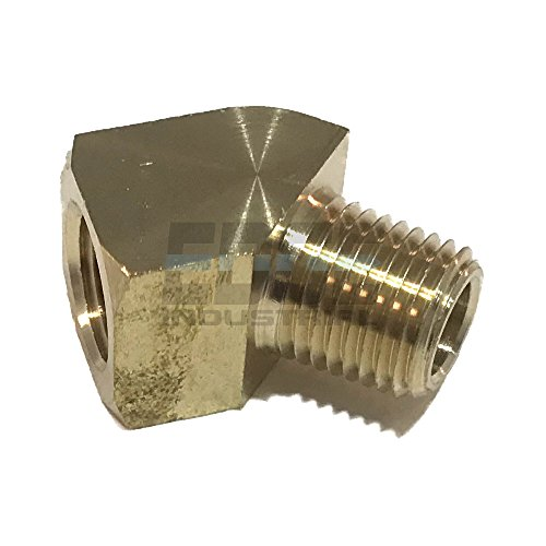 EDGE INDUSTRIAL Forged 90/º Male Elbow 3//8 NPT Fuel//AIR// Water//Oil// Gas WOG