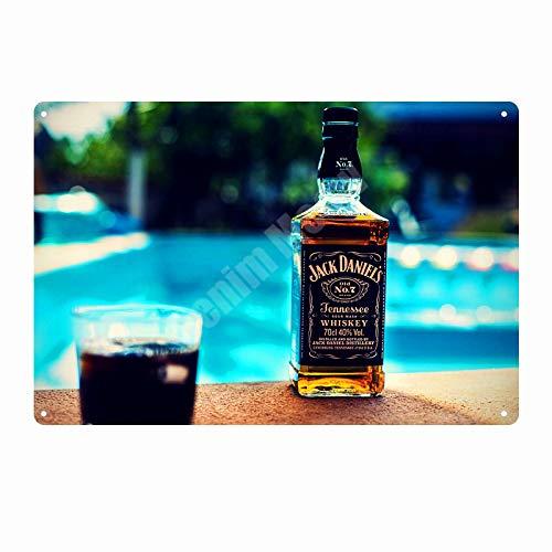 Jack vin Whisky étain Peint étain Logo Vintage métal Bar pub Casino décoration de la Maison bière publicité Affiche 20x30 cm K
