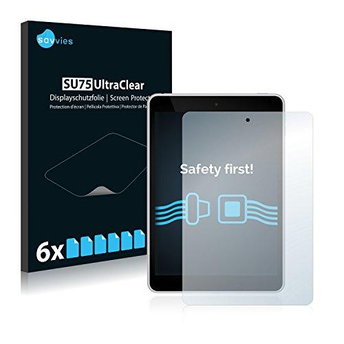 Savvies 6X Schutzfolie kompatibel mit Nokia N1 Bildschirmschutz-Folie Ultra-transparent