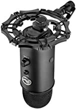 Blue Yeti shock mount by Vocalbeat - Designed to Eliminate Noise and Vibrations - Stand Made from Quality Aluminum Material - Can Also Fit Blue Snowball and other Large Microphones (Black)