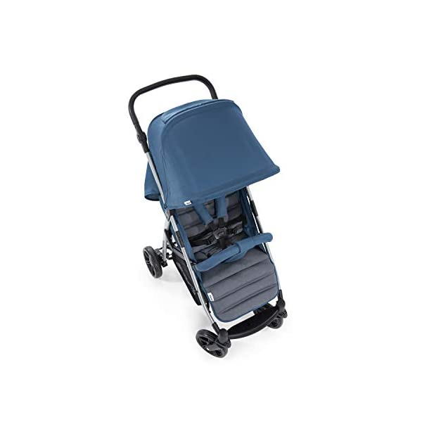Hauck Rapid 4, 0 Months to 22 kg, Foldable, Compact, with one Hand, with Sleep Position, Height Adjustable Handle, Large Basket - denim/grey, Rapid 4, Up to 25 Kg Hauck Easy folding this pushchair is as easy to fold away as possible - the comfort stroller can be folded with one hand only within seconds, leaving one hand always free for your little ray of sunshine Long use this buggy can be used for a very long time. it is suitable from birth (also compatible with 2in1 carrycot or comfort fix infant car seat) up to a maximum of 22kg Comfortable back friendly push handle adjustable in height, the hood extendable; suspension, swivelling front wheels, soft padding, and large shopping basket 12