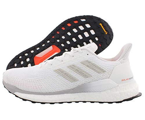 adidas Herren Solar Boost 19 M Laufschuh, Sneaker, Weiá (Cloud White / Grey One / Solar Orange), 46.5 EU