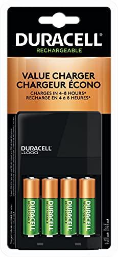 Duracell - Ion Speed 1000 Battery Charger with 4 AA Batteries