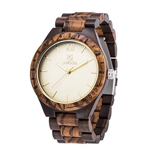 UWOOD Wooden Watch Elegant Men Watch Luminoso movimento al quarzo giapponese orologio di Ballylelly