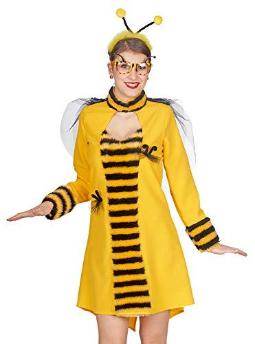 Andrea Moden Bienen Kostüm Kleid Sally für Damen - Gelb/Schwarz Gr. 44/46