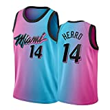 YBKT Herro #14 - Camiseta deportiva para hombre, transpirable, sin mangas, diseño de abanico (S-XXL), color rosa azul-L