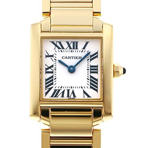 カルティエ Cartier タンク フランセーズ W50002N2 ホワイト文字盤 中古 腕時計 レディース (W209811) [並行輸入品]