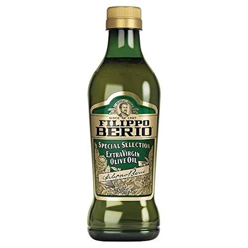 Filippo Berio Sélection Spéciale d'olive Extra Vierge Huile - Bouteille en Verre De 750Ml - Paquet de 2