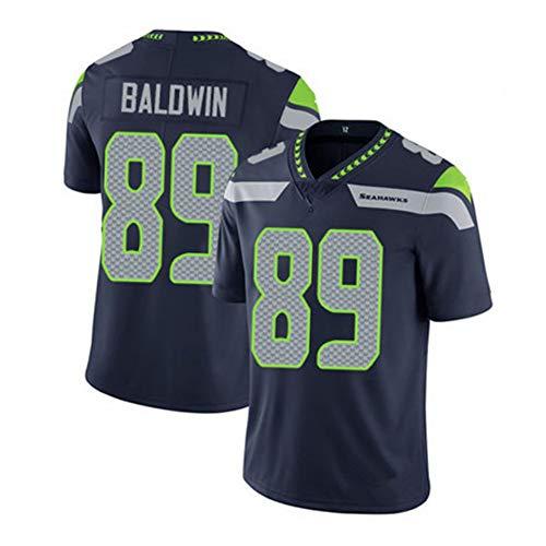 EBDC Baldwin Camiseta de rugby para hombre Seahawks 89# adulto hombre fútbol americano entrenamiento camisetas de manga corta, se puede utilizar para regalos de cumpleaños, color Negro (, tamaño 3XL (190/195 cm)