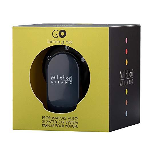 Millefiori Milano 13GO11LG Citronnelle Parfum de Voiture avec Capsules GO, Noir