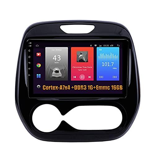 Android 9.0 Navegación GPS Reproductor multimedia Soporte de radio Reproducción automática de automóvil Receptor de video Soporte 4K Video OBD 4G WiFi DAB, para RENAULT CAPTUR 2018, S1