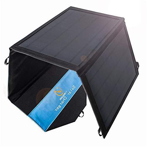 panel solar portatil 21W Cargador solar plegable de 2 puertos USB Panel solar portátil impermeable para teléfonos móviles, tabletas y otros dispositivos digitales