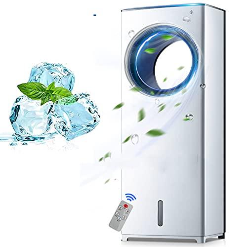 Acondicionador de Aire Portátil, Refrigerador de Aire Evaporativo, Ventilador de 3 en 1 Sin Sentido, Fresco Instantáneo y Humidify con 3 Velocidades de Viento, Sin Ruido
