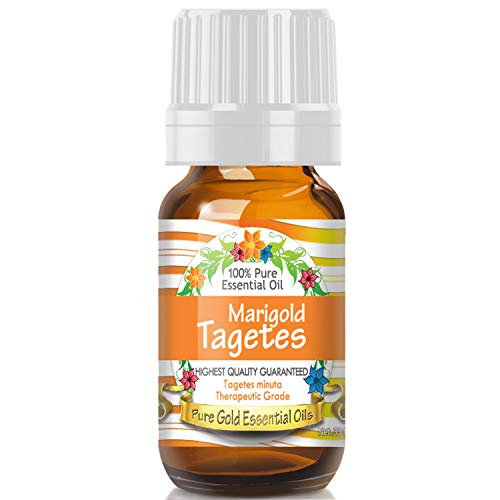 Pure Gold Marigold Tagetes Essential Oil, 100% Natural & Undiluted, 10ml