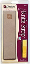 Flexcut PW14 Knife Strop, with 1 Ounce Bar of Flexcut Gold Polishing Compound, 8 X 2 Inch Leather Surface